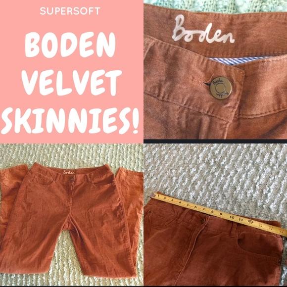 Anthropologie Pants - Boden Velvet Skinnies